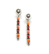 Coral and Orange Spiny Stick Earrings