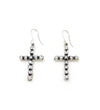 CZ CROSS EARRINGS