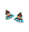 TURQUOISE AND MULTICOLOR TULUM EARRINGS