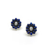 Large Lapis Flower Earrings