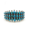 Kingman 3-Row Cuff with silver balls