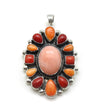 Large Pink Coral Cluster Pendant