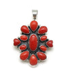 Red Coral Cluster Pendant