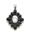 Howlite and Onyx Cluster Pendant