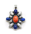 Orange Spiny Center Cluster Pendant