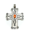 Orange Spiny Cross Pendant