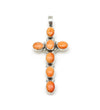 ORANGE CROSS PENDANT