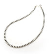 Single Strand 7mm Silver Beads