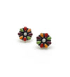 Small Multi Color Flower Earrings
