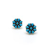 Small Turquoise Flower Earrings
