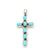 SMALL TURQUOISE CROSS PENDANT