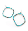 LARGE TURQUOISE HALO EARRINGS