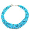 Turquoise and Silver Beaded Strands