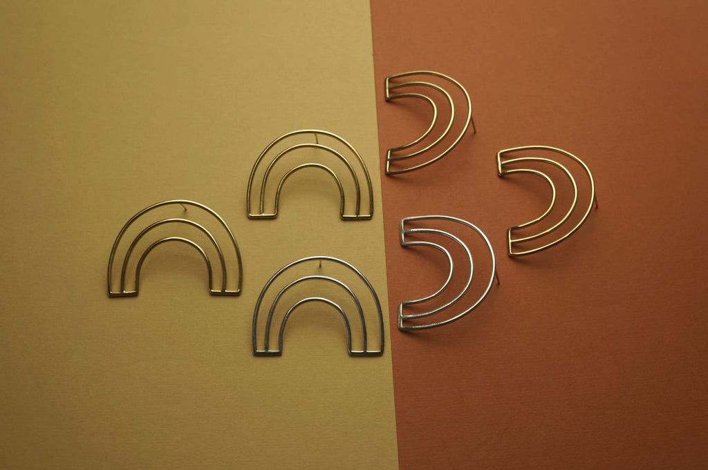 RAINBOWS - BRASS + STERLING SILVER