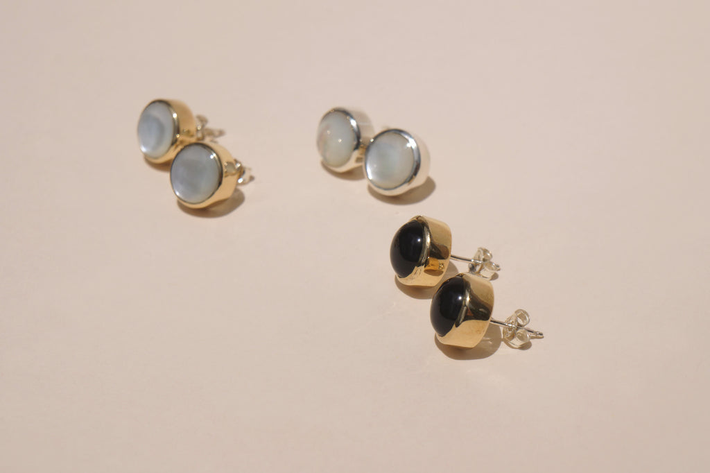 ONYX STUD EARRINGS | 10mm - Aleishla