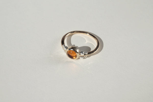 14K GOLD CITRINE NUBE RING, 6 - Aleishla