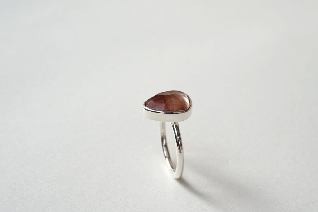 RUTILATED QUARTZ SILVER RING, 6 - Aleishla