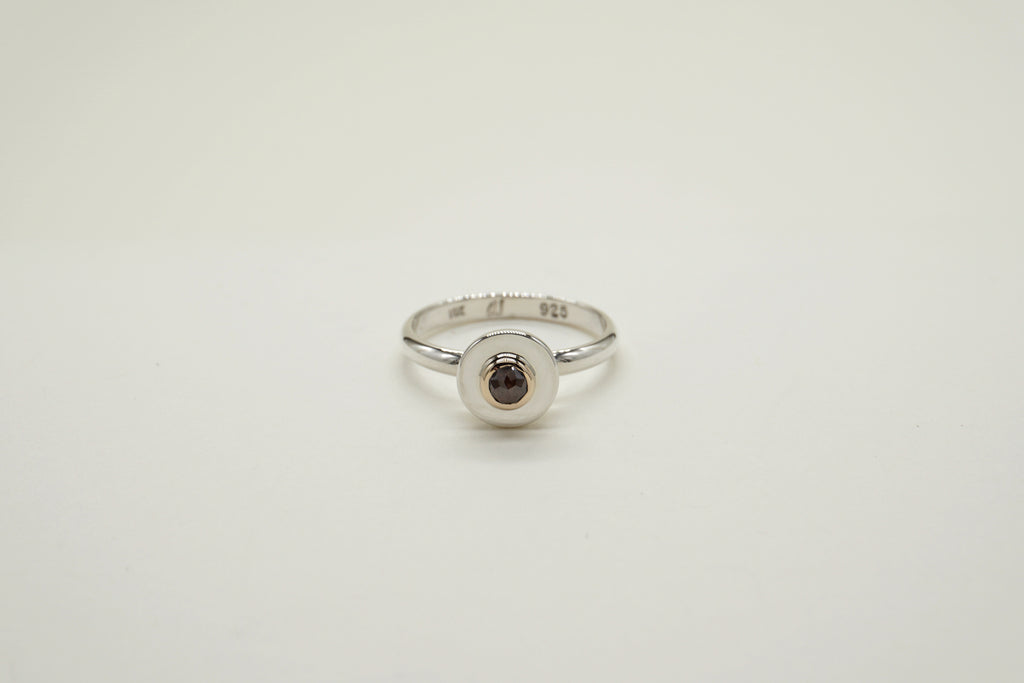 BROWN DIAMOND SPHERE RING, 6.75 - Aleishla