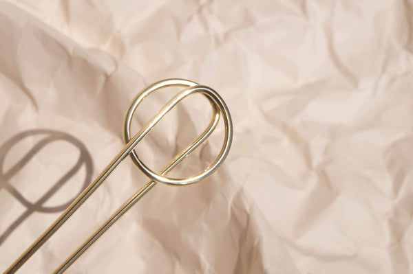 SATURNO BRASS HAIR PIN - Aleishla