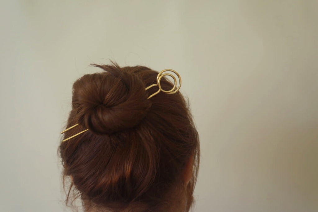 ECHO BRASS HAIR PIN - Aleishla
