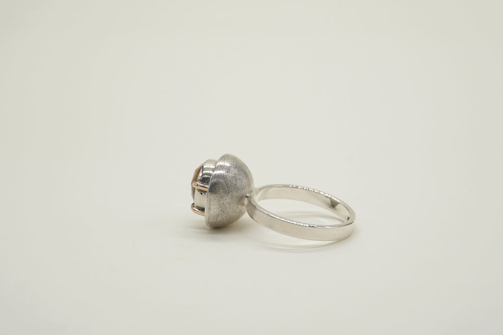 YELLOW SAPPHIRE SPHERE RING, 6.25 - Aleishla