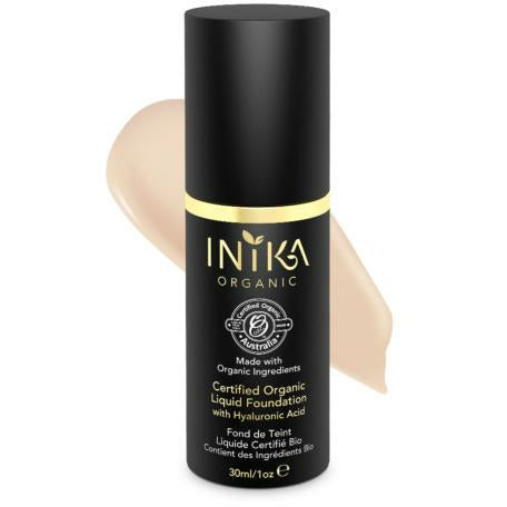 INIKA Certified Organic Liquid Foundation w/ Hyaluronic Acid