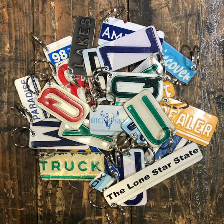 License Plate Key Fobs
