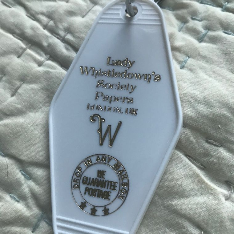 Motel Key Fob, Bridgerton (Lady Whistledown)