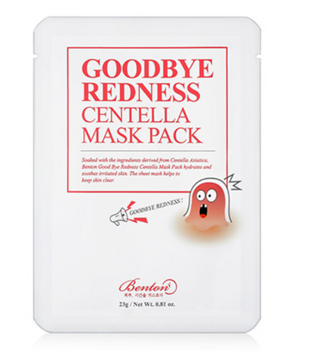 GOODBYE REDNESS: Centella Sheet Mask