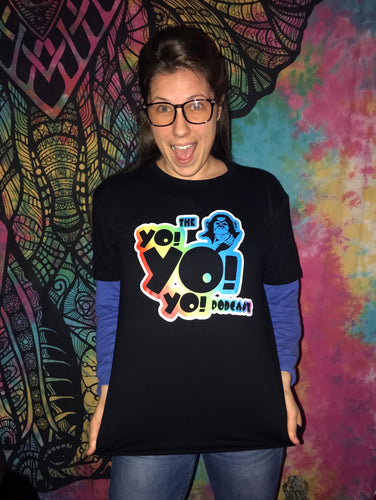 The YoYoYo Podcast t-shirt is so soft you'll scream like a monkey!