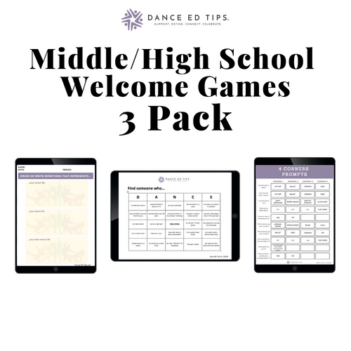 Welcome Games Middle/High School  (Pack of 3) (Digital Download)