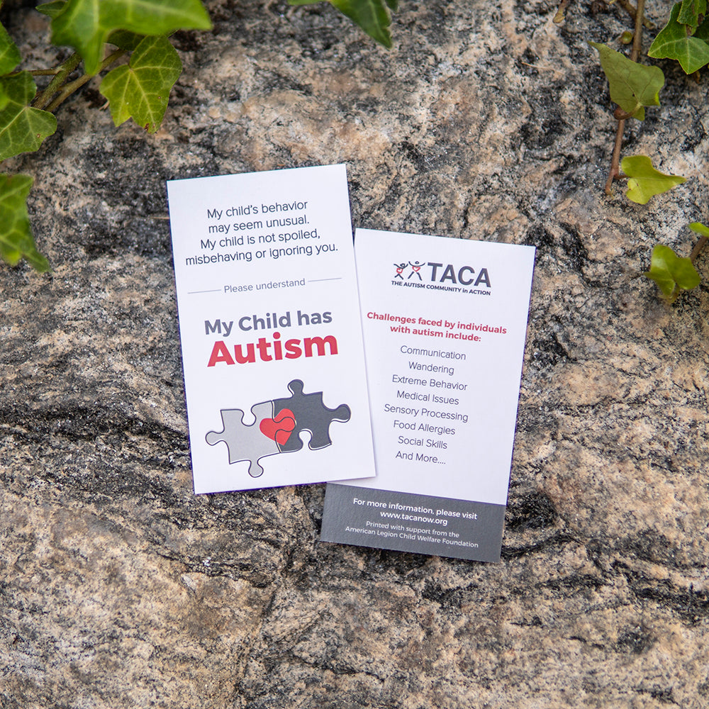 My Child has Autism Cards