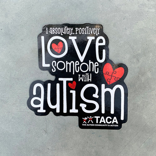 I Absolutely, Positively Love Someone with Autism Stickers