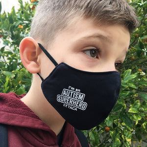 "Just in! TACA ""I'm an Autism Super Hero"" Kids Face Mask"