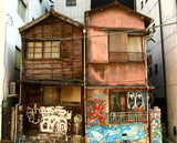 Asian Graffiti buildings full of inspiration for TwiLd Capit Hog handmade accessories. Photo by Scott Murdoch from Burst