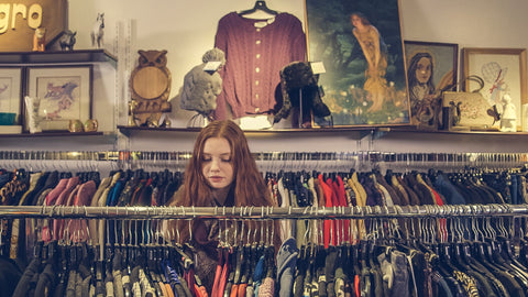 Vintage shopping provides lots of inspiration for TwiLd Capit Hog handmade accessories. Photo by Sarah Pflug from Burst