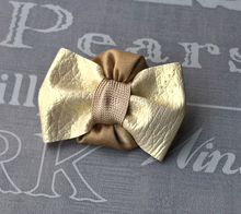 Load image into Gallery viewer, Ivory Bow Tie Boutonniere Groom Accessory,