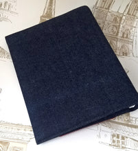 Load image into Gallery viewer, Denim patchwork A5 ring binder, think big