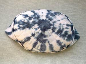 Shibori Tie Dye Pillbox Hat, Men's White Indie Cap