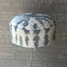 Load image into Gallery viewer, White Shibori tie dye pillbox cap by TwiLd Capit Hog
