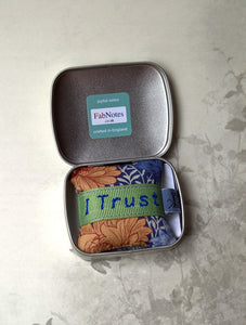 Positive mantra in a tin, I Trust Me confidence builder