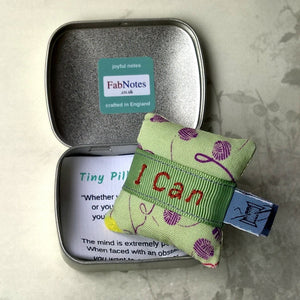 Positive thinking in a tin, Tiny Pillow confidence builder