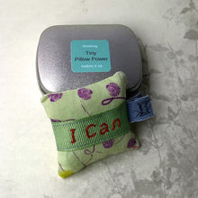 Load image into Gallery viewer, Positive thinking in a tin, Tiny Pillow confidence builder