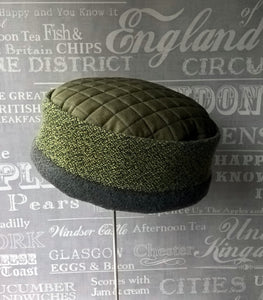 Ethnic fleece pillbox hat, Mens  winter skullcap