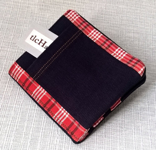 Bifold Credit and Business Card Holder, Mens Fabric Billfold Wallet