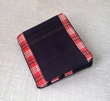 Load image into Gallery viewer, Bifold Credit and Business Card Holder, Mens Fabric Billfold Wallet