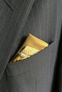 Green Pocket Square with Animal Print, Mens Fashion Pre Folded Suit Accessories
