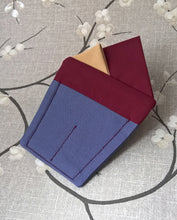 Load image into Gallery viewer, Burgundy Pre Folded Pocket Square, Mens Retro Fashion Wedding Attire.