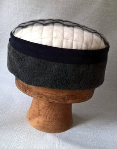 Pillbox Tribal Fleece Hat, Mens Hippie Winter Fez