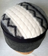 Load image into Gallery viewer, Pillbox Tribal Fleece Hat, Mens Hippie Winter Fez